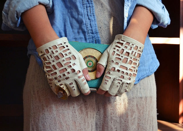 Picture Of Cool DIY Chanel Inspired Cut Out Gloves 8