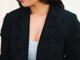 Cool DIY Jagged-Edge Lapel Blazer6