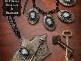Cool DIY Skeleton Bracelet And Necklace For Halloween1