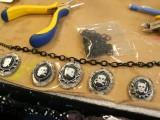 Cool DIY Skeleton Bracelet And Necklace For Halloween10