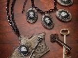 Cool DIY Skeleton Bracelet And Necklace For Halloween11