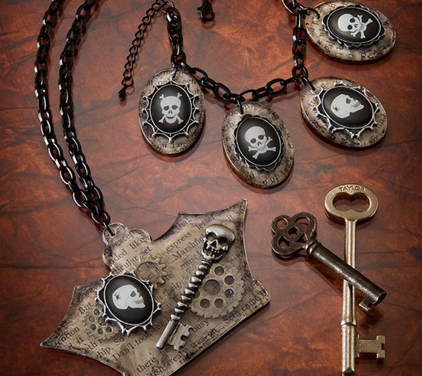 Picture Of Cool DIY Skeleton Bracelet And Necklace For Halloween 11