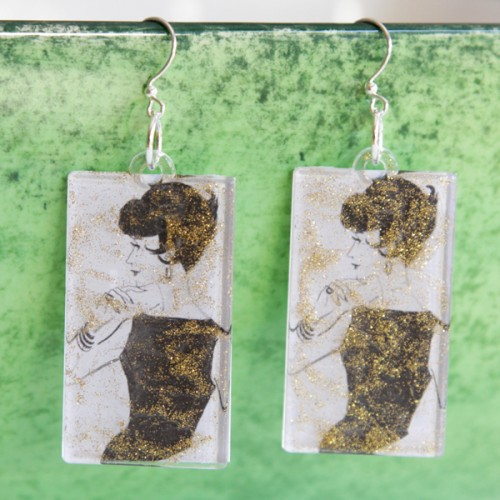 Original DIY Vintage Earrings With Pictures
