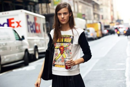 Picture Of Cool Fancy Style With Graphic T Shirts 7