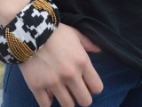 Cozy DIY Fabric Wrapped And Beaded Bangle11