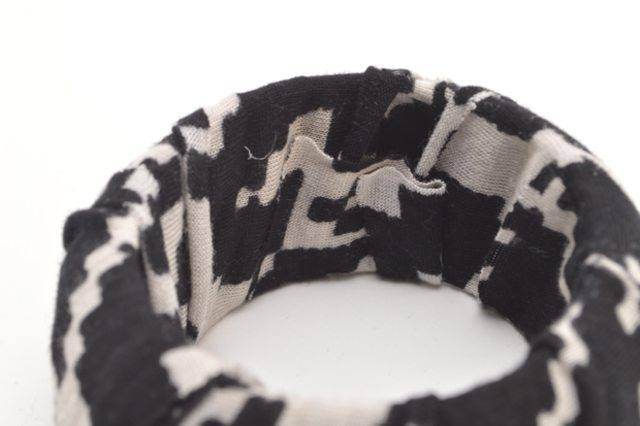 Picture Of Cozy DIY Fabric Wrapped And Beaded Bangle 6