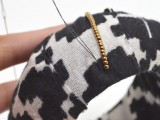 Cozy DIY Fabric Wrapped And Beaded Bangle9
