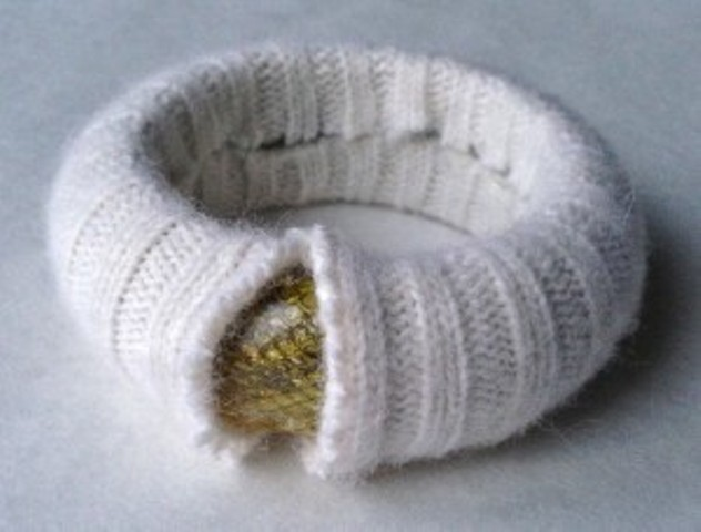 Picture Of Cozy DIY Felted Sweater Bangles 6
