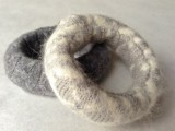 Cozy DIY Felted Sweater Bangles7