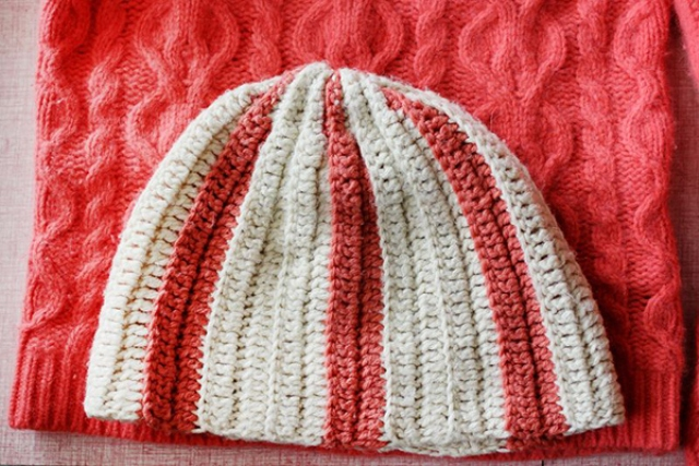 Picture Of Cozy DIY Hat From Knit Sweater For Cold Days 2