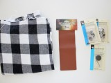 Cozy DIY Leather And Flannel Snap Scarf 3