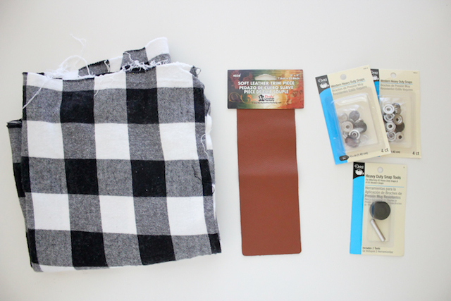 Picture Of Cozy DIY Leather And Flannel Snap Scarf 3