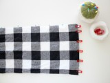 Cozy DIY Leather And Flannel Snap Scarf 5