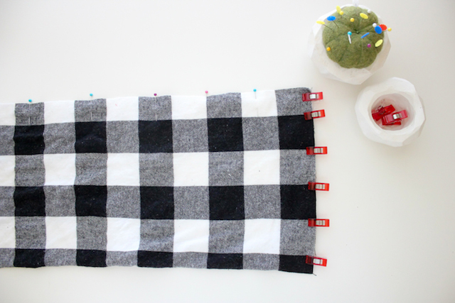 Picture Of Cozy DIY Leather And Flannel Snap Scarf 5