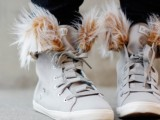 Cozy DIY Removable Fur Lined High Tops 3