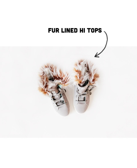 Picture Of Cozy DIY Removable Fur Lined High Tops 4