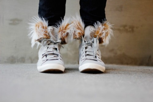 Cozy DIY Removable Fur Lined High Tops