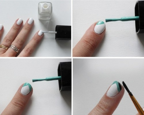 Creative DIY Double Point Nail Art