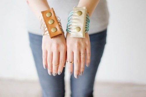 Creative DIY Leather Fringe Cuff Bracelet