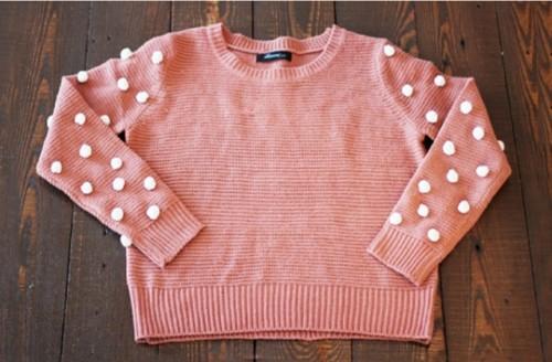 Creative DIY Pom Pom Sweater