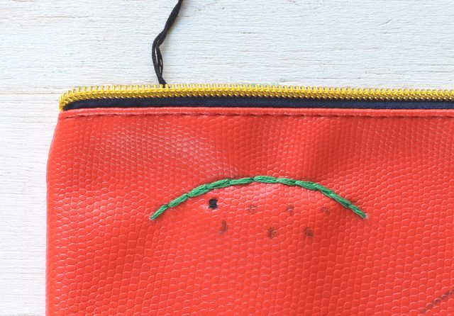 Picture Of Creative DIY Watermelon Embroidered Clutch 10