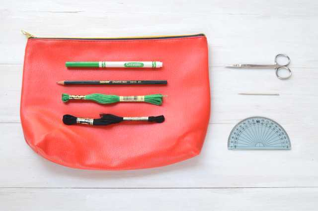 Picture Of Creative DIY Watermelon Embroidered Clutch 2