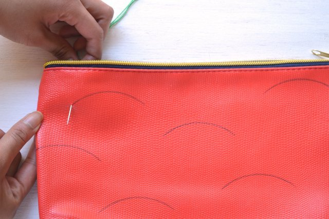 Picture Of Creative DIY Watermelon Embroidered Clutch 6