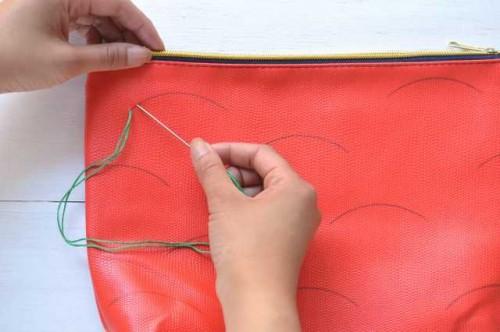 Creative DIY Watermelon Embroidered Clutch