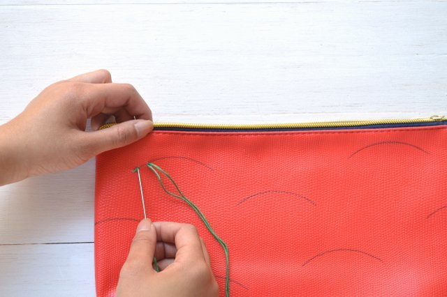 Picture Of Creative DIY Watermelon Embroidered Clutch 8