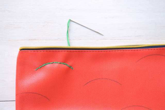 Picture Of Creative DIY Watermelon Embroidered Clutch 9