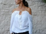 Cute And Delicate DIY Top From Men's Shirt