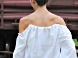Cute And Delicate DIY Top From Men's Shirt2