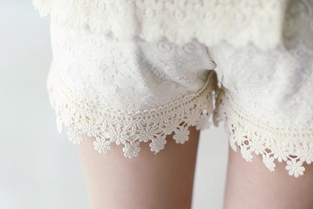 Cute DIY Air Lace Shorts