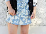 Cute DIY Bleach Dyed Chambray Dress2
