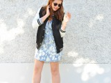 Cute DIY Bleach Dyed Chambray Dress3