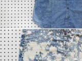 Cute DIY Bleach Dyed Chambray Dress5