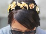 Cute DIY Dolce & Gabbana Inspired Vintage Brooch Headband