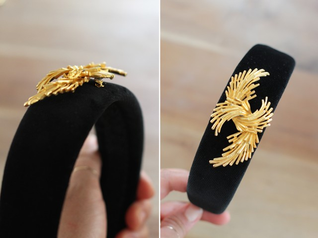 Picture Of Cute DIY Dolce & Gabbana Inspired Vintage Brooch Headband 4