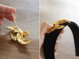 Cute DIY Dolce & Gabbana Inspired Vintage Brooch Headband6