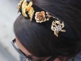 Cute DIY Dolce & Gabbana Inspired Vintage Brooch Headband7