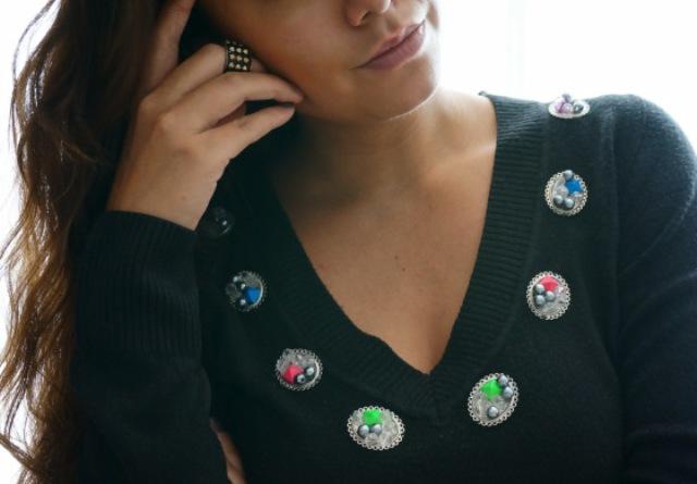 Picture Of Cute DIY Embellished Jumper 5