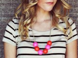 Cute DIY Handmade Bauble Necklace
