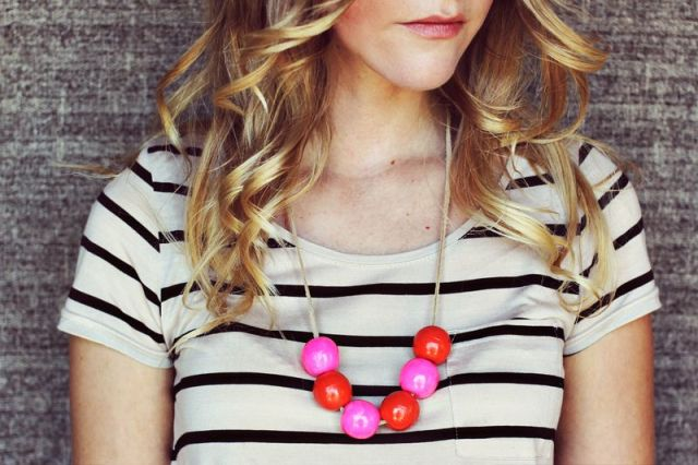 Cute DIY Handmade Bauble Necklace