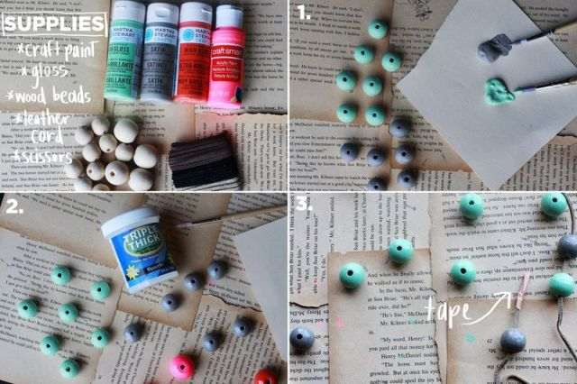 Picture Of Cute DIY Handmade Bauble Necklace 2