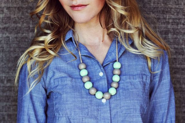 Picture Of Cute DIY Handmade Bauble Necklace 4