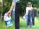 DIY Bleach Patterned Jeans 2