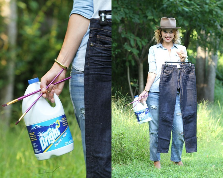 Picture Of DIY Bleach Patterned Jeans 2