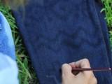 DIY Bleach Patterned Jeans 5
