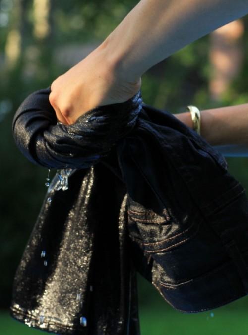 DIY Bleach Patterned Jeans