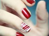 DIY Bright Striped Nail Design 1